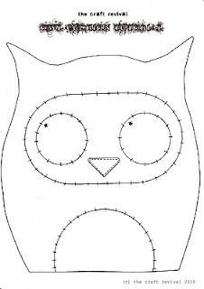 tutoriel et patron en anglais pour un petit coussin hibou owl cushion diy pour enfant. Black Bedroom Furniture Sets. Home Design Ideas