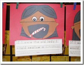 Craft & Writing Activity for Book, There Was An Old Lady Who Swallowed A Bell!