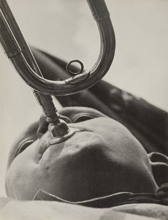 "Aleksandr Rodchenko. Pioneer with a Bugle. 1930. Gelatin silver print. 9 1/4 x 7 1/16"" (23.5 x 18 cm). Gift of the Rodchenko family. 789.1998. Photography:"