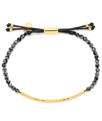 Snowflake Obsidian Courage Bracelet | Know a friend or loved one who had a really bad 2016? Whether it was major (a death in the family, a diagnosis, or a lost job) or just a string of smaller frustrations, send one of these thoughtful presents, with the hope of a better year to come.