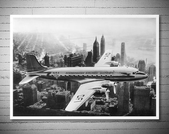 The First SAS Flight over Manhattan New York 1946  by WallArty