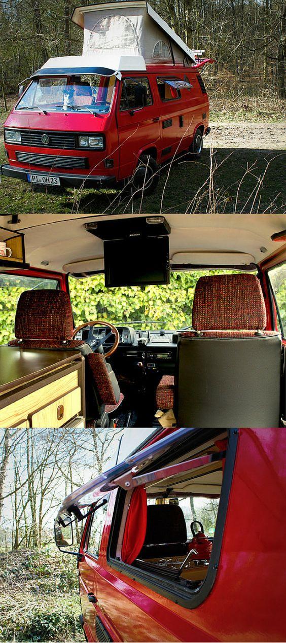 VW T3 Retro-Campingbus mit Klappdach #vw #vwbus #camping #camper #campervan