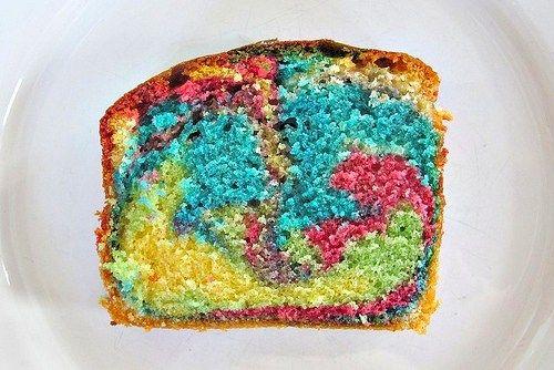 Papageienkuchen Bunter Rührkuchen Regenbogen Farben