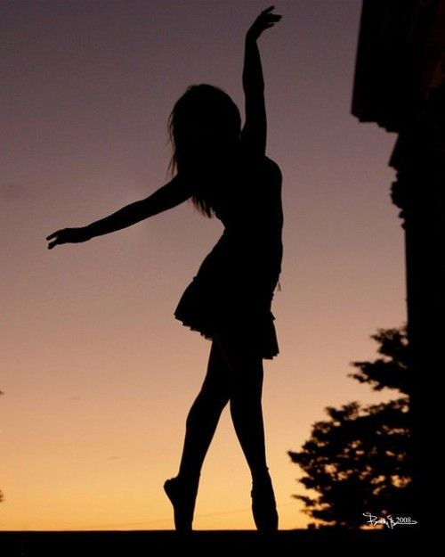 dancing girl silhouette - photo #39