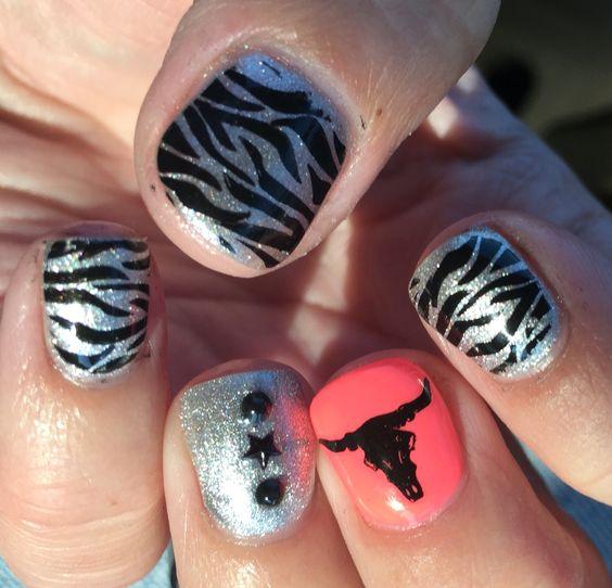 Cowgirl western wild nails