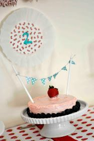 strawberry birthday party.