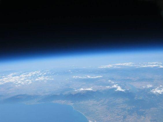 High altitude Balloon flight over Mount Olympus, Greece