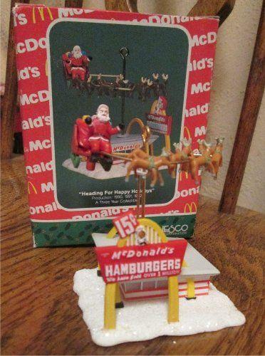 Mc Donald's Enesco Christmas Ornament in Box (Santa,Resteraunt,Classic Christmas) Free Shipping