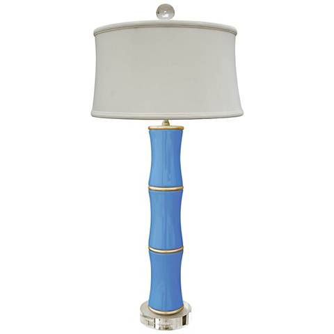 Cecily French Blue Bamboo Porcelain Table Lamp 61y47 Lamps Plus Lamp Bamboo Lamp Table Lamp