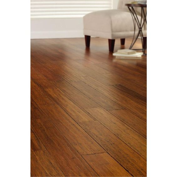 Home Decorators Collection Hand Scraped Strand Woven Harvest 3 8 In T X 5 1 8 In W X 36 In L Engineered Click Bamboo Flooring Am1313e The Home Depot In 2020 Bamboo Flooring Engineered Bamboo Flooring Flooring