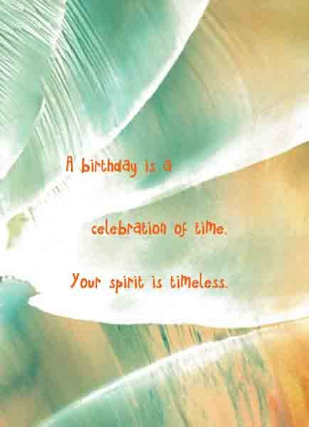 Savor the juicy parts of every day Birthday card with original – Spiritual Birthday Cards