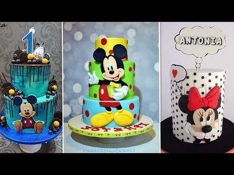 This Video Included All Ideas Of Mickey Mouse Cakes كل الافكارلتزين كيك عشكل ميكي وميني ماوس 2 Youtube Birthday Cake Cake Birthday