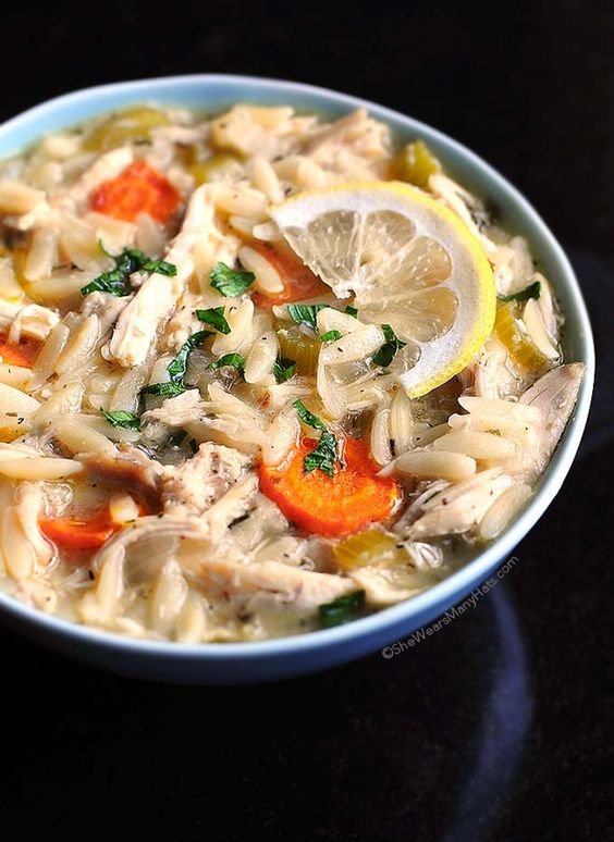 Lemon Chicken Orzo Soup This Lemon Chicken Orzo Soup is a great bowl of comfort, and dare say better than the Panera-inspired original