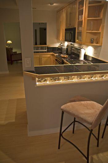 glass block backsplash under bar kitchen ideas pinterest caves