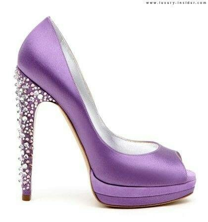 Purple Diamond Studded Heels ✦ ˚… | Pinteres…