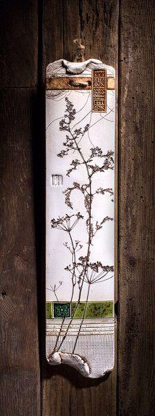 Keramik Gartendeko, Kacheln, Fliesen, Wanddekoration, Wandbilder, Gedanken,  Zement Ton, Tonziegel, Fliesen