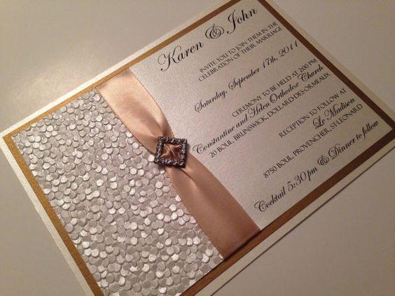 Gold Embossed Wedding Invitations: Wedding Invitation, Elegant Wedding Invitations, Gold