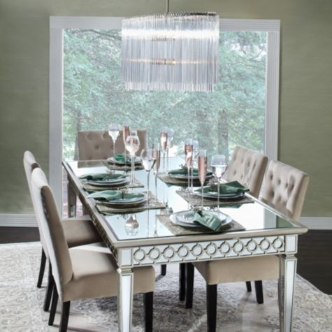 Sophie Mirrored Dining Table Dinning Table Decor Dining Room