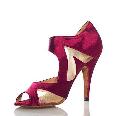 sexy+de+salto+alto+de+cetim+e+malha+cinta+tornozelo+sandálias+de+dança+latina+para+senhoras+(mais+cores)+–+BRL+R$+94,67