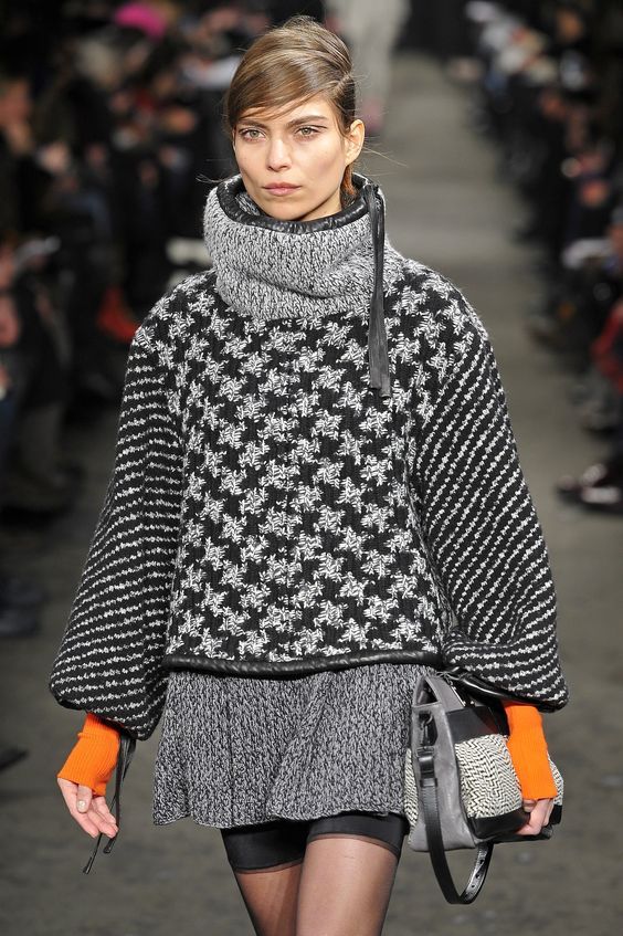 Rag and Bone- New York Fashion Week FW13/14. Cool houndstooth pattern.