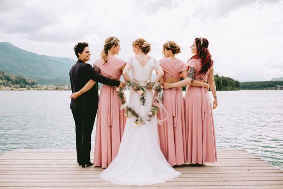 bridesmaids, hochzeit wedding austria. wedding on top of a mountain. hiking. wedding day. staywild. boho bride, boho hochzeit, boho wedding