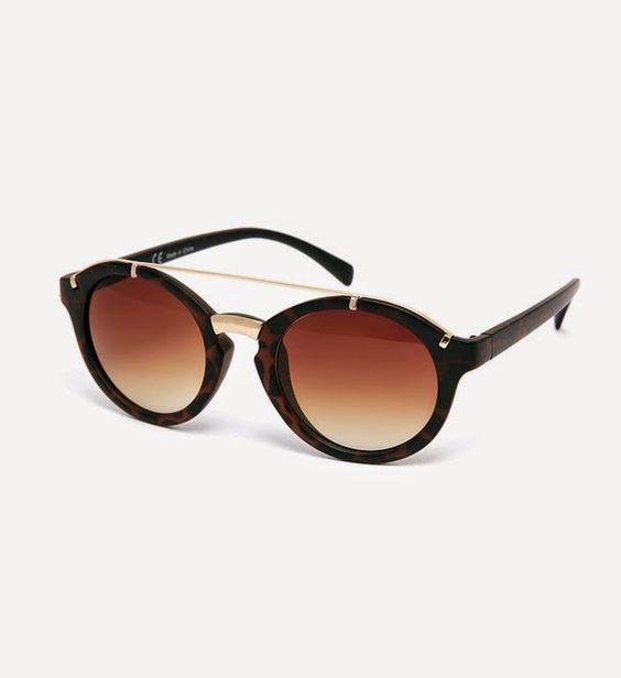 redondo lentes pretas