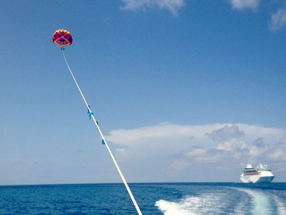 Sail above the Caribbean. #parasail