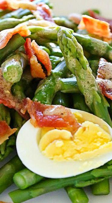 Asparagus Egg and Bacon Salad with Dijon Vinaigrette rhs