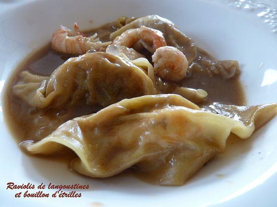 Raviolis chinois aux langoustines et bouillon d��trilles