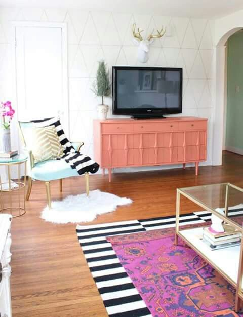 Sala de estar contemporânea