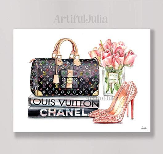 Amazon Com Louis Vuitton Artwork Print Of Watercolor Painting No Frame 5 X 7 8 X 10 9 X 12 11 X 14 And 12 X 16 Artwork Prints Louis Vuitton Vuitton