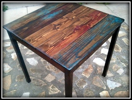 Beautiful Custom Bistro Table Made From Reclaimed Pallet By HappyHomeAustin, $220.00  | Wooden Pallet (recycle) | Pinterest | Pallets, Woods And Wood Projects