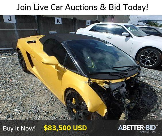 Wrecked Lamborghini For Sale: Salvage 2011 LAMBORGHINI ALL MODELS For Sale