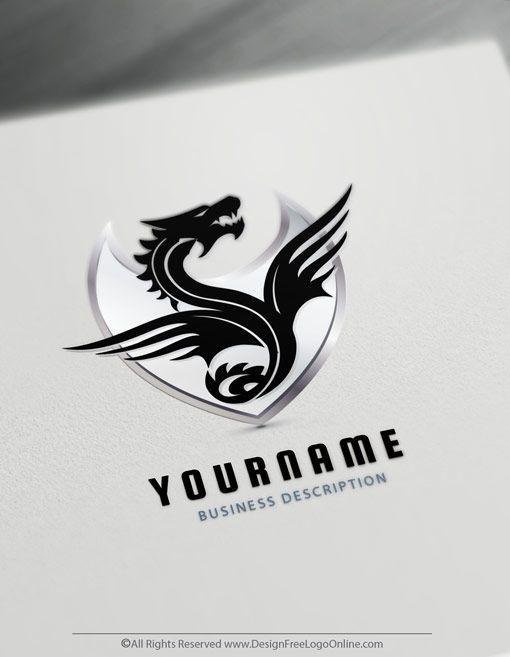 Dragon Logo Maker Dragon Symbol Online Logo Ideas Aprender A