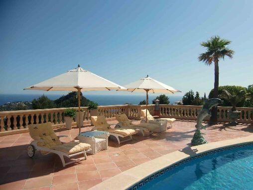 Villa Mallorca mit Blick auf den Hafen von Puerto Andratx › Immobilien Meerblick