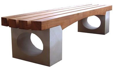 wood & stone benches outdoor - Bing Images