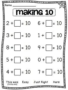 Worksheets Adding To 10 Worksheets making 10 first grade math and on pinterest unit 3 addition to 10