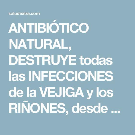 ANTIBIÓTICO NATURAL, DESTRUYE todas las INFECCIONES de la VEJIGA y los RIÑONES, desde el primer uso!