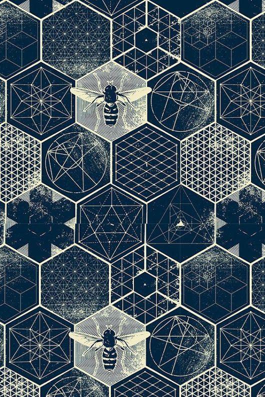 Stunning Blue Hexagon Tiles Blue Hexagon Geometric Honeycomb