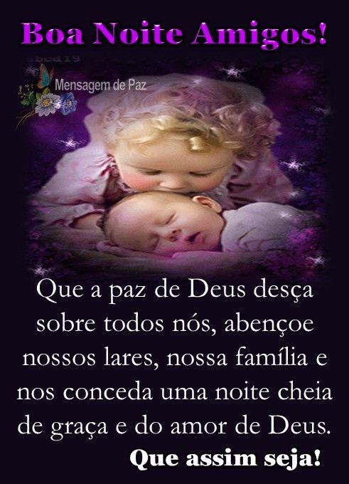 Que A Paz De Deus Desca Sobre Todos Nos Figura De Boa Noite
