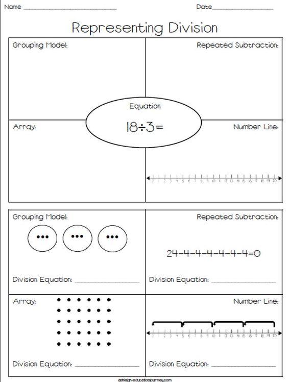 Division Worksheets » Division Worksheets Area Model - Preschool ...