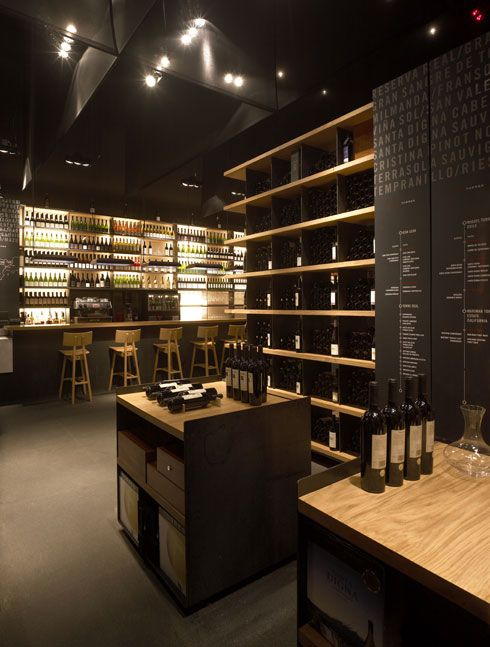 wine restaurant | More pictures from Contemporary Wine Bar And Restaurant Design