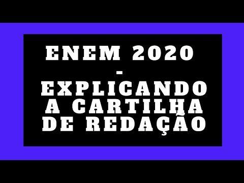 Literatura E Redacao Enem 2020 Explicando A Cartilha De Redacao