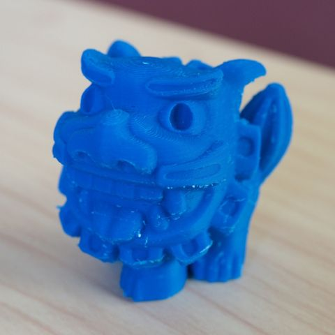 funny shisa -open mouth- 3D file, bs3