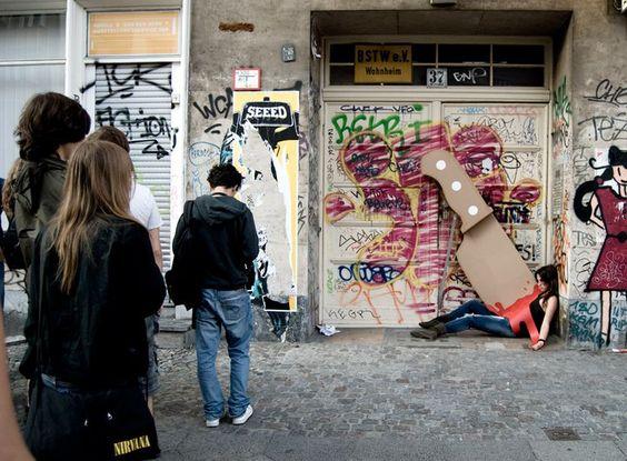Hilarious Cardboard Knife Crime Scenes by Maria Luján