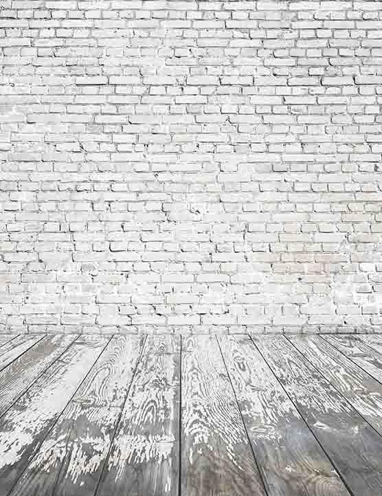 Gray White Senior Brick Wall With Wood Floor Backdrop For Photography Brick Wall White Brick Wallpaper Brick Wallpaper Iphone