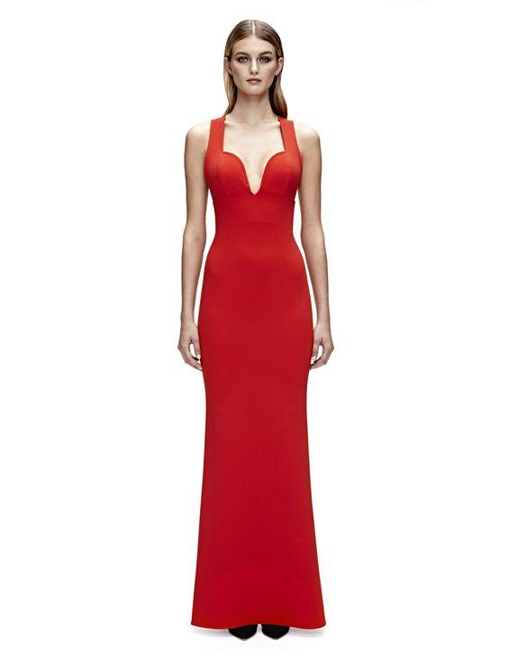 Cordelia Criss Cross Gown (Red)