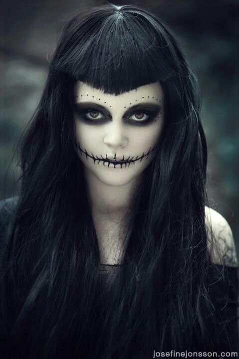 Goth day of the dead sugar skull