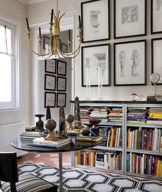 Inside an Apartment That's Black and White and Chic All Over// marble obelisks