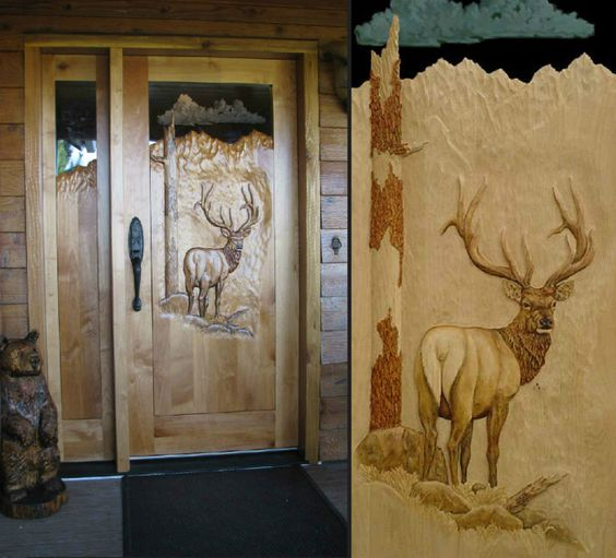 Mule deer elk and gov 39 t mule on pinterest for Amazing hand carved doors